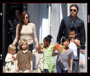 familia de Brad Pitt y Angelina Joli