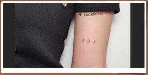 ester exposito tatuaje numeros